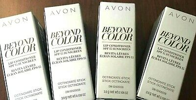 LOT OF 4 AVON Beyond Color Lip Conditioner with retinol