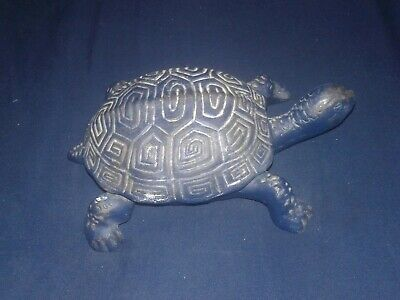 RARE Vintage Cast Iron Turtle Garden Key Box By Lillian Vernon 90s