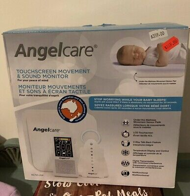 ANGELCARE Touchscreen Movement & Sound Baby Monitor AC701-2SP New In Box
