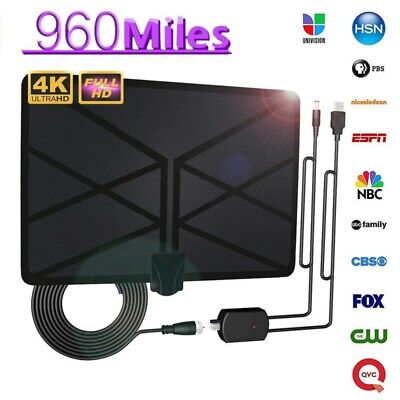 TV Digital HD HDTV 1080P 960 Mile Range Antenna Skywire 4K Antena Indoor Aerial