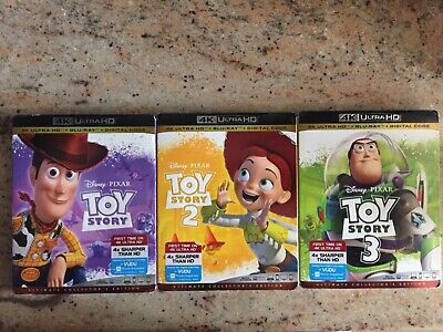 Toy Story Trilogy (1,2,3) 3 movie collection 4k/BluRay No Digital with slipcover