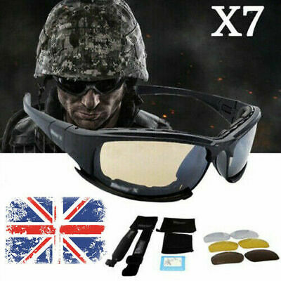 Daisy X7 UVA/UVB Tactical Military Style Glasses Goggles Motorcycle Sunglas O7W5