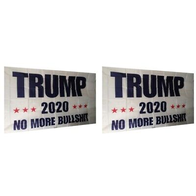 2-Pack Trump 2020 No More BS President Donald Make America Great 3x5 Ft Flag US