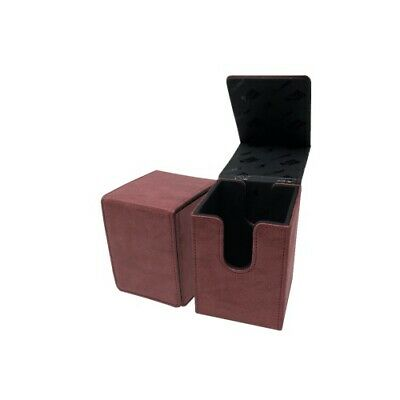 Ultra Pro 85770 UP - Suede Collection Alcove Flip Deck Box - Ruby