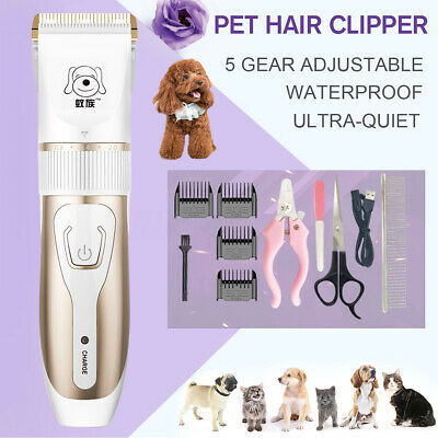 🔥Cordless Rechargeable Electric Pet Clipper Dog Cat Hair Trimmer Comb Grooming