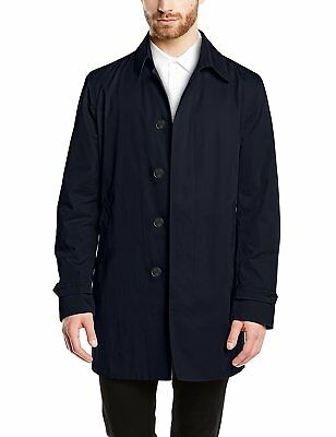 United Colour of Benetton Navy Trench Mac Coat Size Small 46 BNWT
