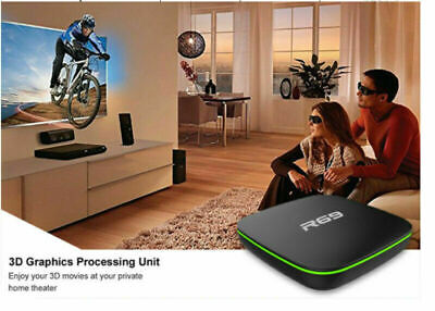 SMART TV BOX for Android 7.1 4K WiFi Quad Core 3D Media Player UK plug 1G+8G