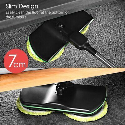 Rechargeable 360° Rotation Cordless Floor Cleaner Scrubber Handheld Mop#F#