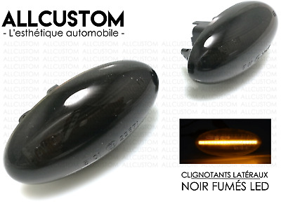 REPETIDORES LATERALES INTERMITENTES NEGRO LED para PEUGEOT PARTNER TEPEE 2008<