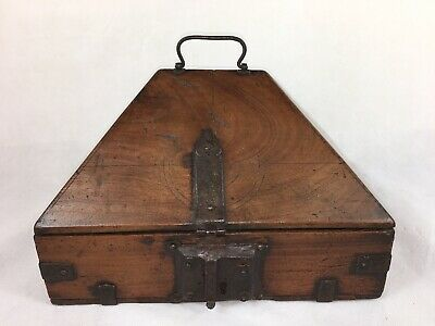Antique Indian Wooden Dowry Box (19th Century) Wedding