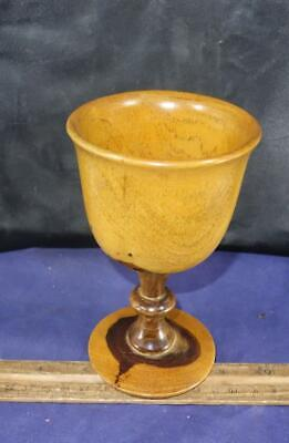 Two Toned Turned Wood Goblet Chalice Cup !