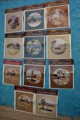 11 x Long Stitch PATTERNS Australian scenes - Homesteads in the Country-Outback