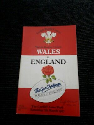 1987-Wales V England-Five Nations-Rugby Union Programme
