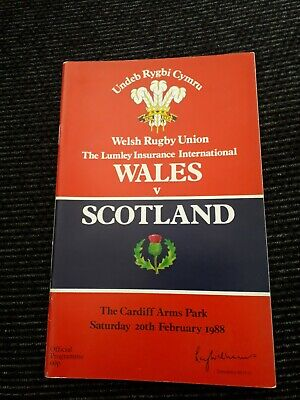 1988-Wales V Scotland-Five Nations Champions-Triple Crown Win-Rugby Programme