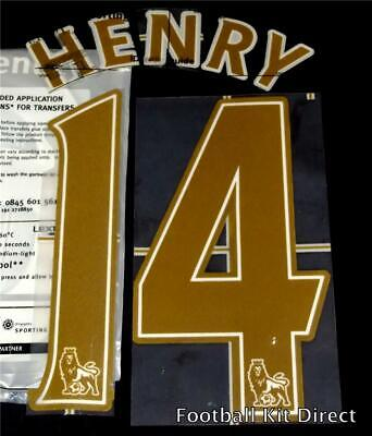 Arsenal Henry Name/Number Set Football Shirt Lextra 07-13 Sporting ID Legend