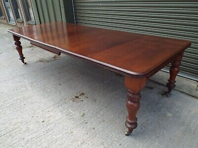 Antique Victorian Mahogany Extending Dining Table 114''
