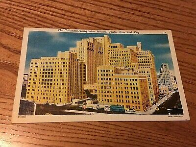 PRESBYTERIAN HOSPITAL MEDICAL Center NYC NY linen 1940s - $2 43