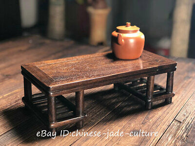 "12"" 1960s Old Rose Huanghuali Wood Classical Furniture Dining Center Tea Table"