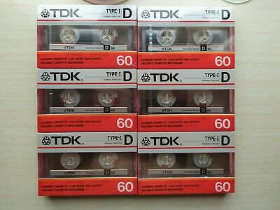 Tdk D 60 Blank Audio Cassette Tape New Rare Audiokassette