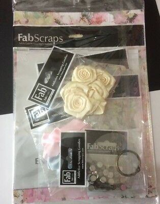 FABSCRAPS Floral Charms CRC97 001. Card Kit ~ Make Beautiful Cards Free Uk Post.