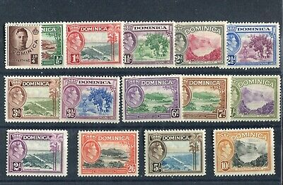 Dominica KGVI 1938-47 definitive set SG99/108a MNH