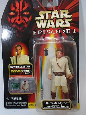 Star Wars Episode 1 Obi-Wan Kenobi Jedi Knight Action Figure Hasbro 1999