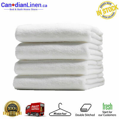 Canadian Linen Soft White Absorbent Imperial Premium Quality Stitched Towels