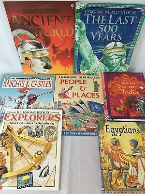 Usborne Lot 7 Ancient World Internet-Linked Last 500 Year EXPLORER Knight Castle