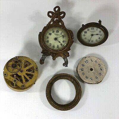 SET OF 4 NOS Brass Trim Decorations Clock Parts for Clock Face Angel