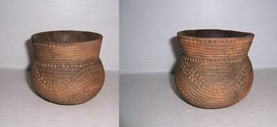 Pre-Columbian Caddo Pottery Military Road Incised Jar Set of 2 Found Together