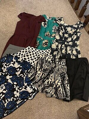 Dorothy Perkins Bundle Of Work Dresses And Work Skirts, Mainly Size 8.