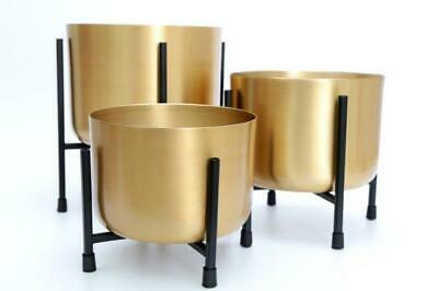 Large Gold Metal Aluminium House Plant Flower Pot Display Stand Planter Holder
