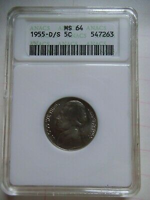 2005 P Wounded or Speared Bison Jefferson Nickel ANACS MS-64
