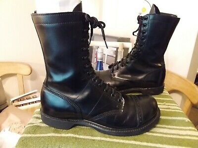 3a4e32f407a CORCORAN 10 INCH Hi Combat Leather Jump Boots Men's Size 10.5 D Made ...