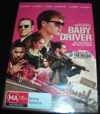 Baby Driver (Ansel Elgort Kevin Spacey) (Australia Region 4) DVD – New