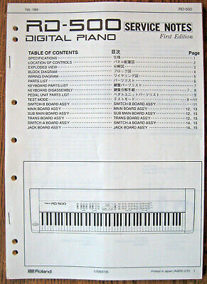 ROLAND JUNO-2 SERVICE Manual With Schematics, Used But In Good