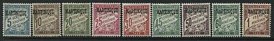 Martinique 1927 overprinted Postage Dues values to 1 franc mint o.g.