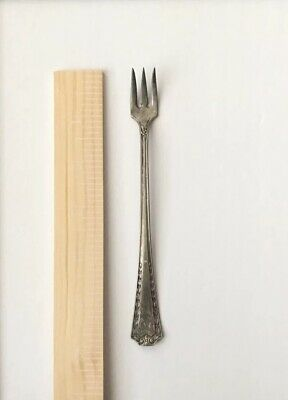 Sheffield A.1 Plate Silver Mini Small Cheese Fork Antique