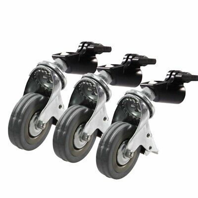3Pcs NiceFoto 22mm Light Stand Wheels with Lock For Studio Tripod Light Stand