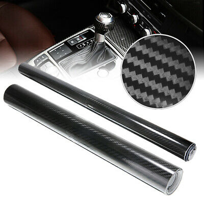 152cm Black 5D Glossy Carbon Fiber Car Vinyl Wrap Film Sticker Bubble Free UK