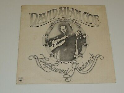 DAVID ALLAN COE longhaired redneck Lp RECORD COUNTRY 1976
