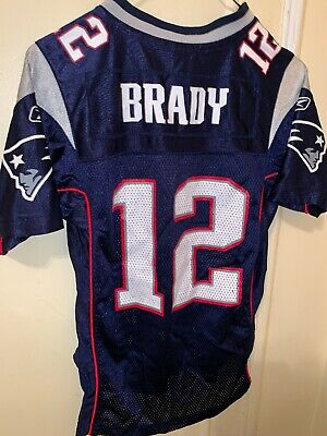 1c8e0ee1 REEBOK TOM BRADY New England Patriots Jersey Youth Medium Size 10-12 ...
