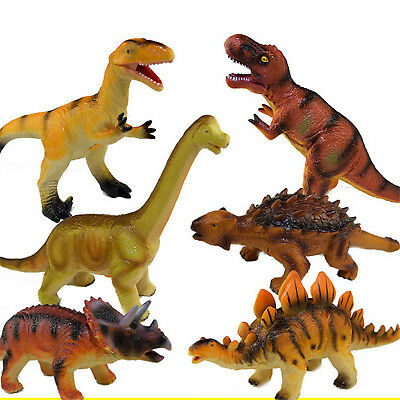 Large Soft Rubber Stuffed Dinosaur Toy Model Action Figures Play For Kid E3