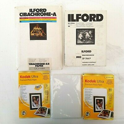 "Photographic Paper Bundle Kodak Ilford  5 x 7"" 10 x 15cm"