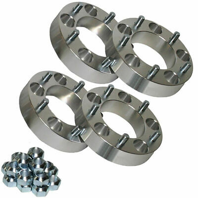 4x Land Rover 50mm Wide Aluminium Wheel Spacers Defender Discovery Range Rover