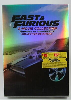 Fast & Furious 8 Movie Collection DVD BRAND NEW + Bonus Disc See pictures!