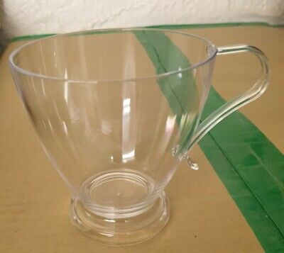 Clear Plastic Teacups / Coffee Cups - pack of 10