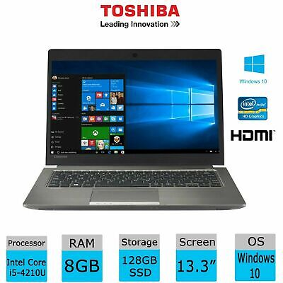 Toshiba Portege Z30-A-1FD Core i5-4210U Business Laptop 8GB RAM 256GB SSD Win 10