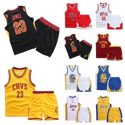 best sneakers a4a4b 0ced6 UK KID LAKERS Bulls Basketball Jersey Sport Training Vest Kit Jordan James  Curry