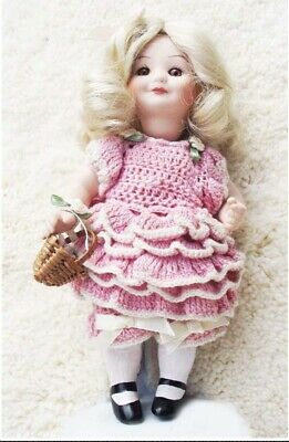 Antique Reproduction Armand Marseille Patricia Loveless Miniature Porcelain Doll